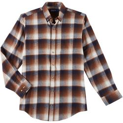 Boca Classics Mens Flannel Plaid Pocket Long Sleeve Shirt
