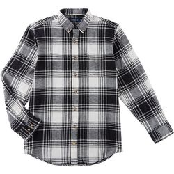 Boca Classics Mens Flannel Plaid Print Long Sleeve Shirt