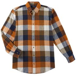 Boca Classics Mens Flannel Gingham Plaid Long Sleeve Shirt