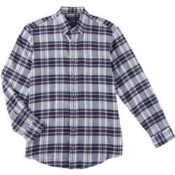 Boca Classics Mens Plaid Button Down Long Sleeve Shirt