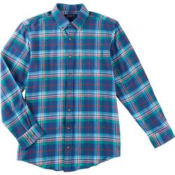 Boca Classics Mens Flannel Checkered Plaid Long Sleeve Shirt