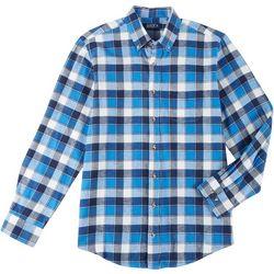 Boca Classics Mens Flannel Plaid Long Sleeve Shirt