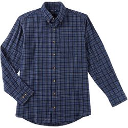 Boca Classics Mens Flannel Plaid Button Long Sleeve Shirt
