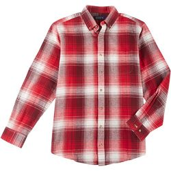 Boca Classics Mens Flannel Tartan Plaid Long Sleeve Shirt