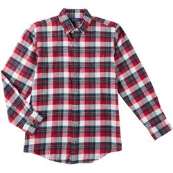 Boca Classics Mens Plaid Button Up Long Sleeve Shirt