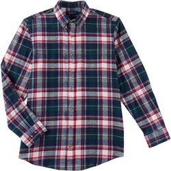 Boca Classics Mens Tartan Plaid Button Up Long Sleeve Shirt
