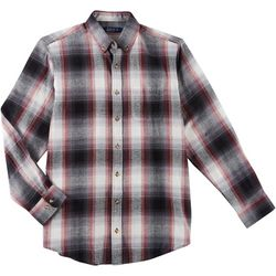 Boca Classics Mens Flannel Plaid Button Up Long Sleeve Shirt
