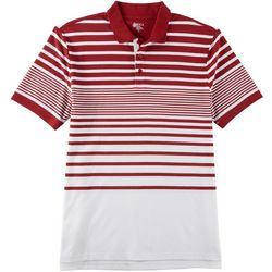 Boca Classics Mens Stripe Print Polo Shirt