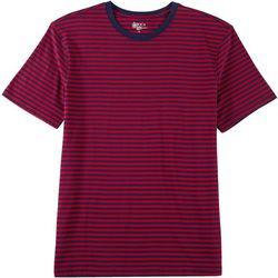 Boca Classics Mens Stripe Print Crew Neck T-Shirt