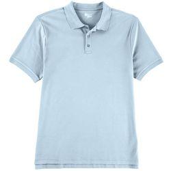 Boca Classics Mens Heathered Pima Cotton Polo Shirt