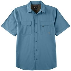 Flatwood Threads Mens Heathered Short Sleeve Shirt