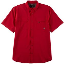 Flatwood Threads Mens Solid Short Sleeve Shirt
