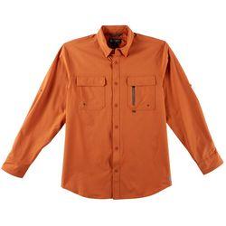 Flatwood Threads Mens Solid Long Sleeve Shirt