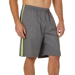 RB3 Active Mens Printed Woven Shorts with Mesh Side Stripe