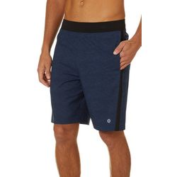 RB3 Active Mens Woven Shorts with Mesh Side Stripe