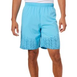 RB3 Active Mens Solid Border Print Woven Shorts