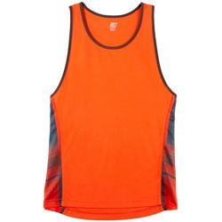 RB3 Active Mens Performance Solid Stripe Panel Tank Top