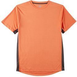 RB3 Active Mens Jacquard Stripe Knit T-Shirt