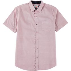 Marti Kat Mens Medallion Print Short Sleeve Shirt