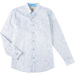 Age of Wisdom Mens Floral Long Sleeve Shirt