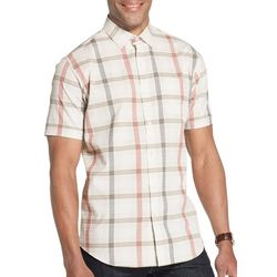 Van Heusen Mens Seersucker Checkered Print Shirt