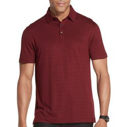 Van Heusen Mens Big & Tall Air Two-Tone Striped Polo Shirt