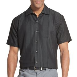 Van Heusen Mens Air Vertical Stripe Short Sleeve Shirt