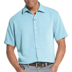 Van Heusen Mens Air Plaid Textured Short Sleeve Shirt