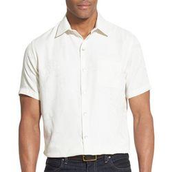 Van Heusen Mens Air Jacquard Leaf Short Sleeve Shirt