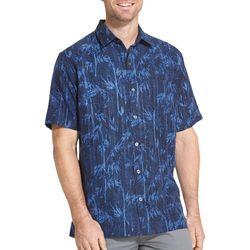 Van Heusen Mens Air Bamboo Print Short Sleeve Shirt