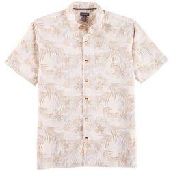 Van Heusen Mens Air Palm Print Short Sleeve Shirt