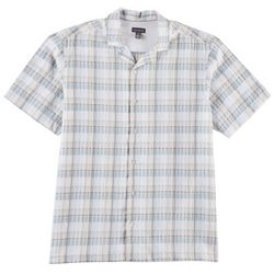 Van Heusen Mens Plaid Short Sleeve Shirt
