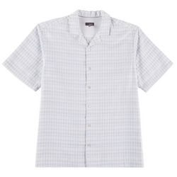Van Heusen Mens Horizontal Stripe Short Sleeve Shirt