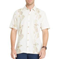 Van Heusen Mens Vertical Floral Short Sleeve Shirt