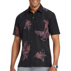 Van Heusen Mens Floral Print Short Sleeve Shirt