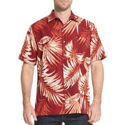 Van Heusen Mens Air Tropical Print Short Sleeve Shirt
