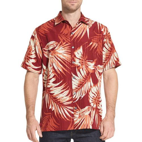efbdb71d38c Van Heusen Mens Air Tropical Print Short Sleeve Shirt