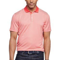 Van Heusen Mens Ottoman Stripe Short Sleeve Polo Shirt