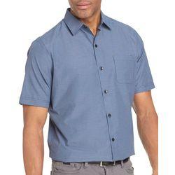 Van Heusen Mens Air Mini Check Short Sleeve Shirt