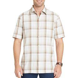 Van Heusen Mens Checkered Cotton Short Sleeve Shirt
