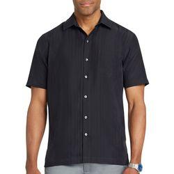 Van Heusen Mens Big & Tall Stripe Short Sleeve Shirt
