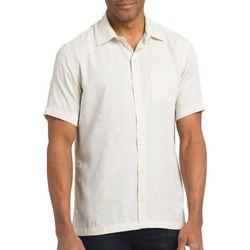 Van Heusen Mens Big & Tall Jacquard Leaf Button Down Shirt