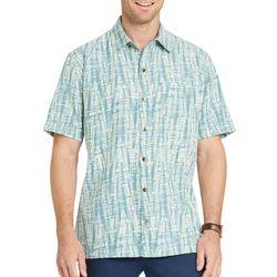 Van Heusen Mens Big & Tall Bamboo Print Short Sleeve Shirt