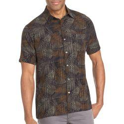Van Heusen Mens Big & Tall Leaf Print Short Sleeve Shirt