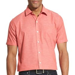 Van Heusen Mens Air Solid Short Sleeve Button Down Shirt