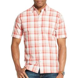 Van Heusen Mens Air Plaid Short Sleeve Shirt