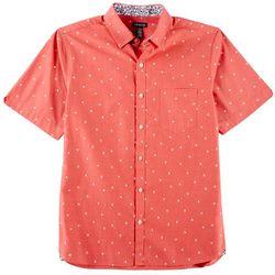 Van Heusen Mens Micro Palm Print Never Tuck Shirt