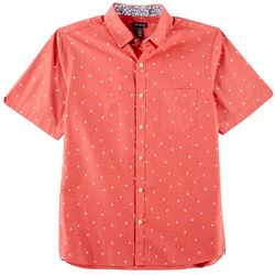 Van Heusen Mens Micro Palm Print Never Tuck Shirt
