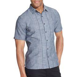Van Heusen Mens Never Tuck Stripe Short Sleeve Shirt