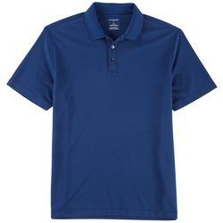 Van Heusen Mens Air Textured Solid Polo Shirt